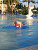 Zach in the pool at the hotel