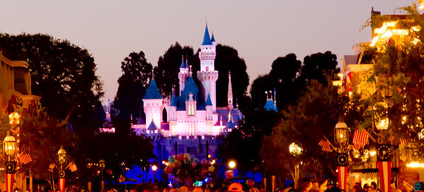 Mickey's Castle in the night