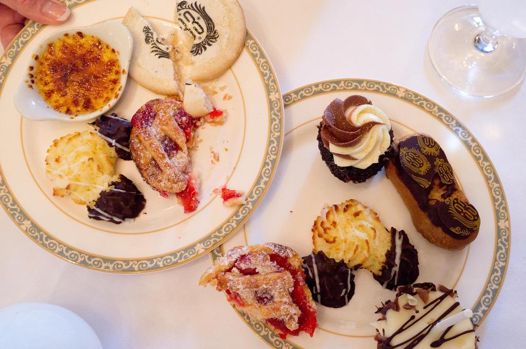 Desserts at Club 33