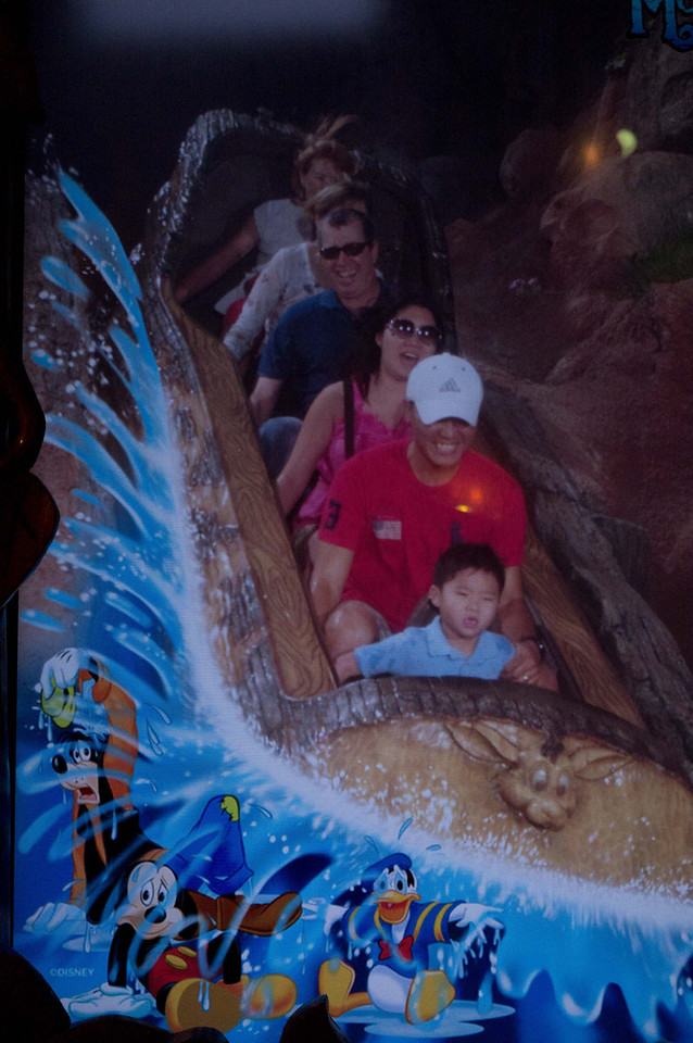 I took a picture of the picture at splash mountain. Barbara is glad I am hiding her