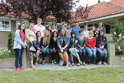Lauren and fellow RYE students in the Netherlands
