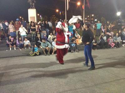 Dancing Chilean Street Santa