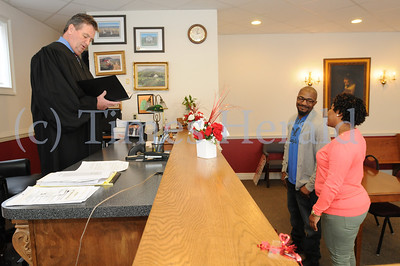 District Judge Lawrence performs Valentine Day Wedding services