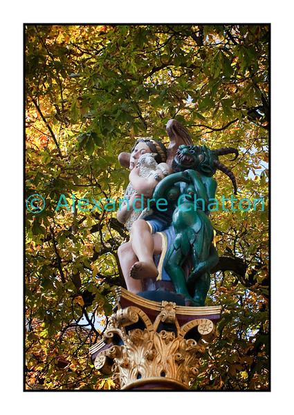Bienne, 21 octobre 2011, la fontaine de l'ange.