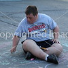 National Special Olympian takes time to chalk on the pavement