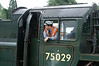 Enginedriver waiting for departure on the North Yorkshire Moors Railway