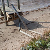 Between the end of March and April 2012 about six feet of land eroded on the West end of the island, exposing the windmill and limiting the usefulness of the dock.