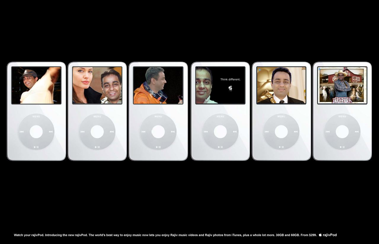 A long time DOS and Windows user, I recently purchased an Apple AirPort Express wireless gateway and started using iTunes with it. When my Mac user friends at work heard this, they created this collection of Mac related artwork featuring me. Doctored by Perry Patrick.