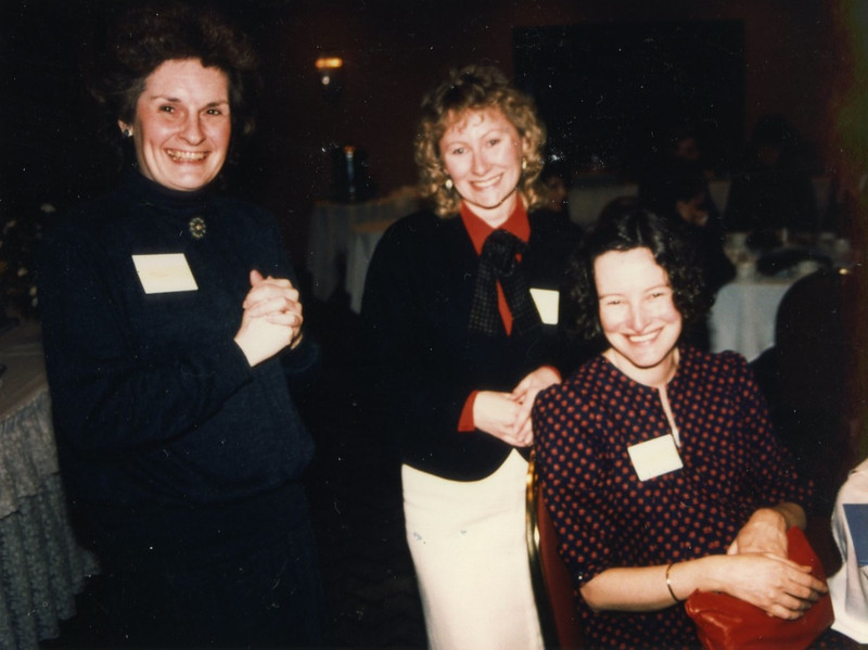 Ruth Thomas, Raynna Bowlby, and unknown