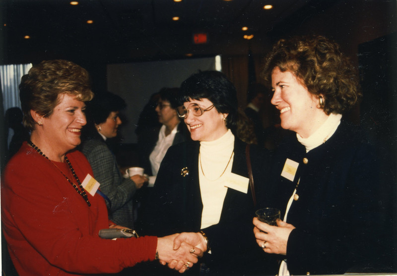 Does Your Career Need the Third Degree?: Examining The Value of Continuing Education. Days Inn, Newton, MA. Thursday, February 25th, 1988. Pictured: Lee McLaughlin, Ruth Seidman, and Martha Berglund