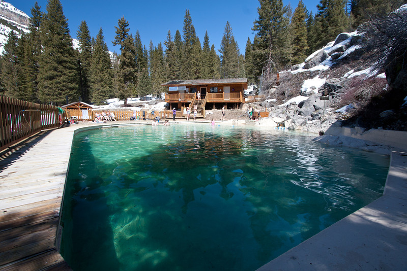Granite Springs, hot springs with a nice view.