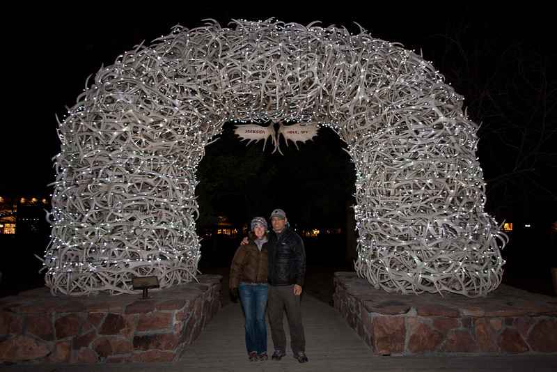 Arches made of Elk antlers in downtown Jackson Hole.