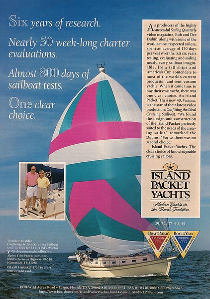 Island Packet Advertisement