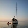 At anchor...