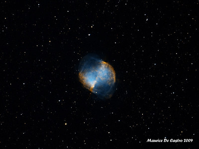 M-27 the famous Dumbell nebula