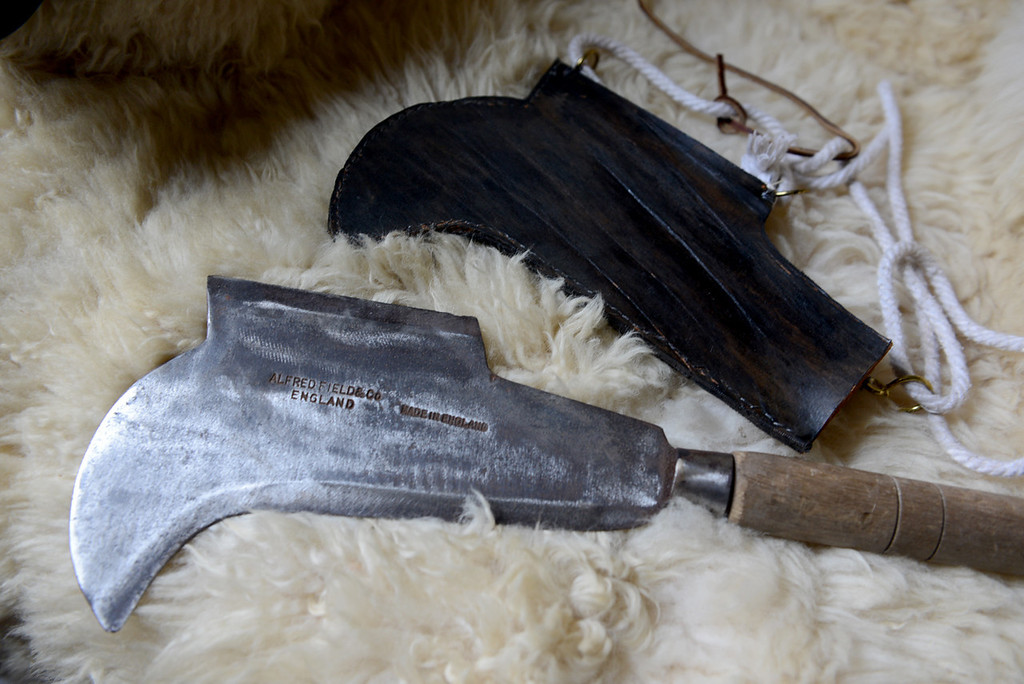 . Tania Barricklo-Daily Freeman  A bill hook which was used for cutting grass for horses is a popular tool used today in England as a garden tool.