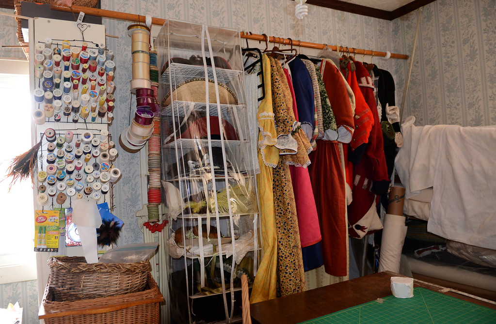. Tania Barricklo-Daily Freeman                      A sewing room upstairs where all the revolutionary period outfits are sewn.