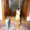 This interesting cat comes from the attic at 4 Oakdene Crescent.  It is made of an unknown material and is quite heavy, particularly at the base.