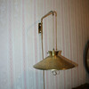 Overhead hanging lamp.  Not in good condition.