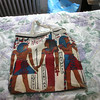 An Egyptian themed canvas bag.