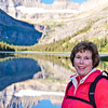 Donna Hull at Swiftcurrent Lake