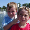 Spencer & Raydan at the WWII Memorial; Sightseeing in Washington, D.C.