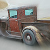 11/29/12:  Someone drove this old, old truck to work the other day and I spotted it in the parking lot of my building.  Not sure what model Ford this is, but it's old.  Very old.