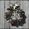 12/19/12:  Christmas Wreath on Wooden Fence