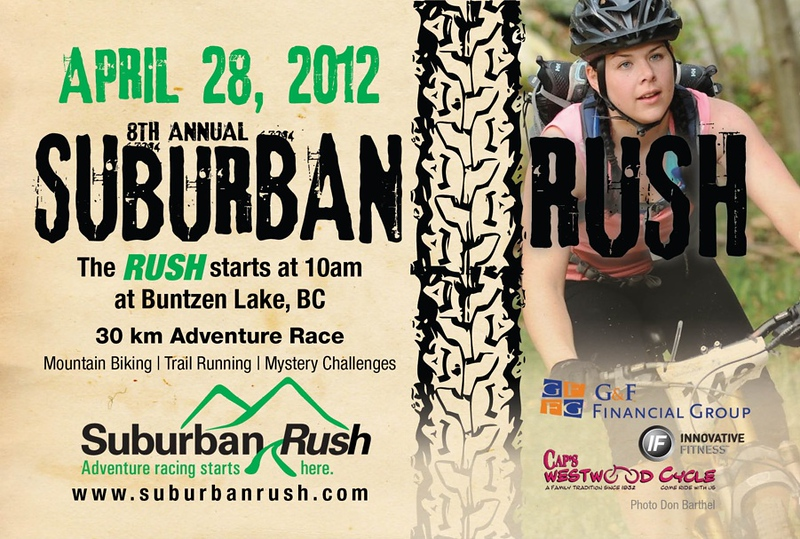 Photo used in poster promoting adventure racing in Vancouver area.