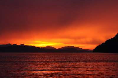 Sunset from Village Bay, Mayne Island BC.