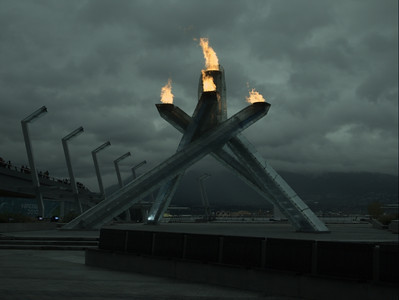 HDR'd image of 2010 Olympic cauldron in Vancouver.