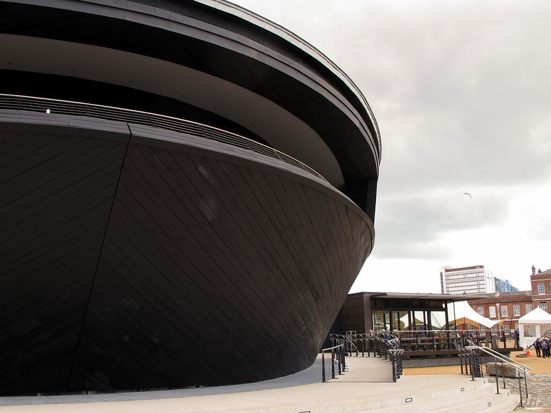 The brand new Mary Rose Museum adjacent to HMS Victory, opened earlier this year.