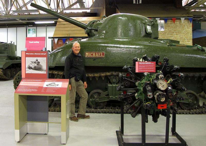 A Second World War American Sherman Tank (that's the big green thing!)