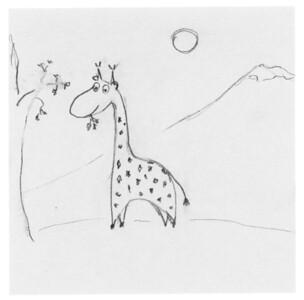 Giraff bw