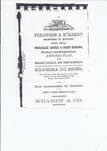 1915 - McHardy & Co - Mawhera iti Station