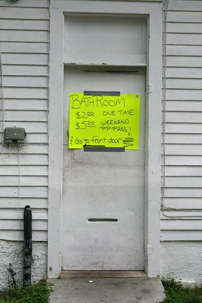Bathroom door Jazz Fest, New Orleans, La.