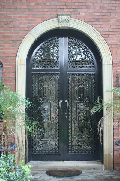 Arch Metal Door With Glass