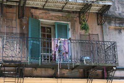 Balcony with beads French Quarter, New Orleans, La.