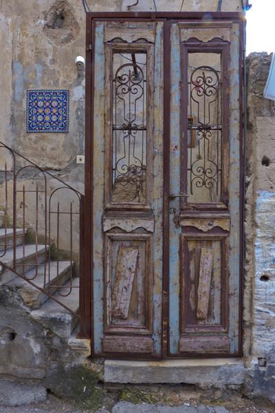 old door in Yaffo, Tel Aviv, Israel