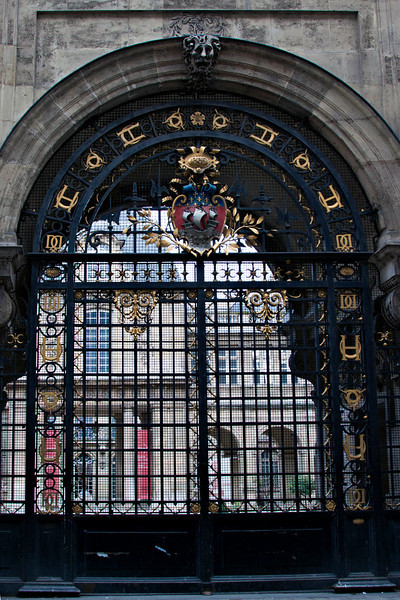 one of the gates of the Carnavelet Museum, in the Marais, Paris