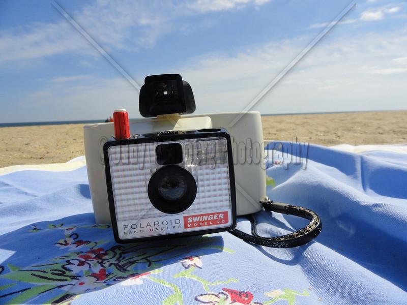 Swinger Polaroid Camera on the Beach
