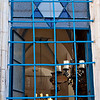 Zefat,  mid 16th Century window of a synagogue named after the founder of the Lurianic Kabbalah