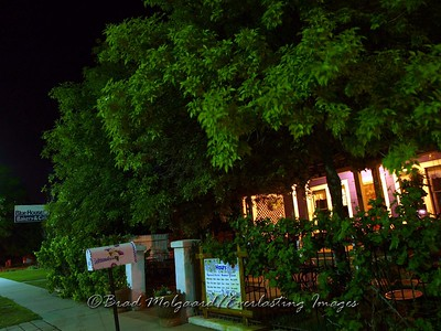 """Late Night Green""  Blue House Cafe - Carlsbad, NM"