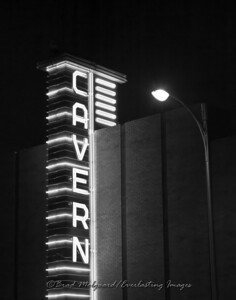 """Neon Cavern"" (black & white)-Carlsbad, New Mexico"