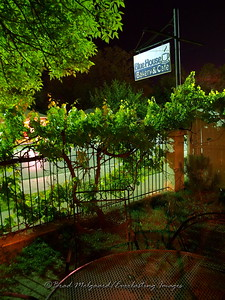 """Court Yard"" Blue House Cafe - Carlsbad, NM"