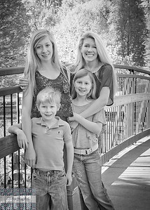 Fam on Bridge bw-