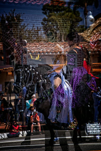 Black Stallion Purple Dress