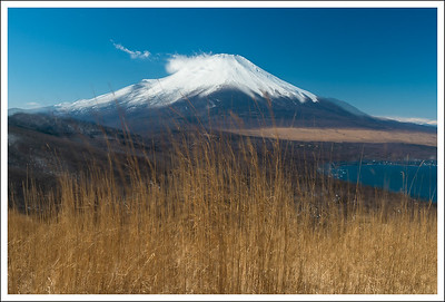 This is a double exposure of the mountain and pampas grass taken from Panorama Dai.