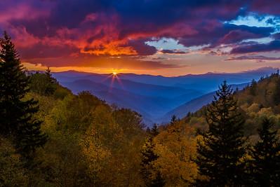 Reprise of Oconaluftee Autumn Sunrise