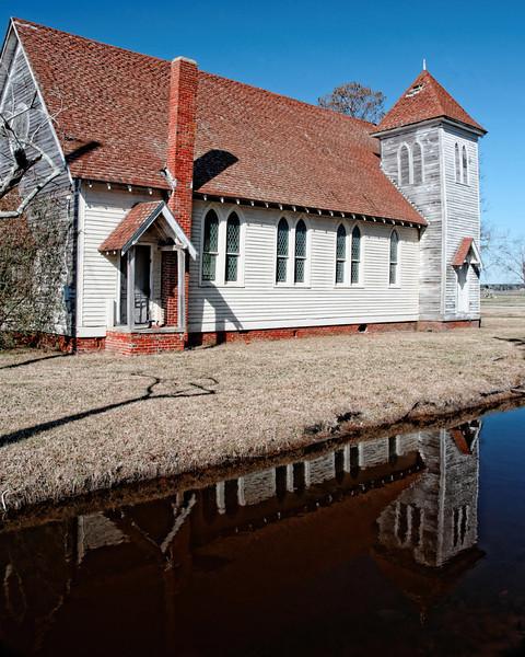 Old Church, Academy and Main, Swan Quarter, NC